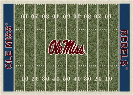 """Mississippi (Ole Miss) Rebels 3' 10"""" x 5' 4"""" Home Field Area Rug"""