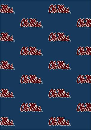 "Mississippi (Ole Miss) Rebels 3' 10"" x 5' 4"" Team Repeat Area Rug"