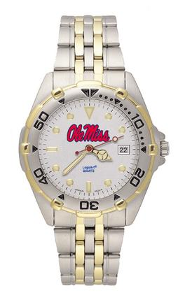 "Mississippi (Ole Miss) Rebels ""Ole Miss"" All Star Watch with Stainless Steel Band - Men's"