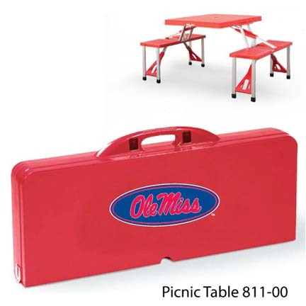 Mississippi (Ole Miss) Rebels Portable Folding Table and Seats
