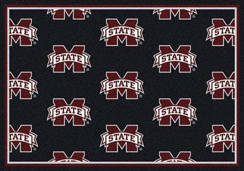 "Mississippi State Bulldogs 3' 10"" x 5' 4"" Team Repeat Area Rug"