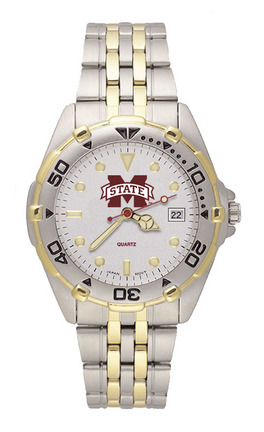 "Mississippi State Bulldogs ""M State"" All Star Watch with Stainless Steel Band - Men's"