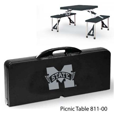 Mississippi State Bulldogs Portable Folding Table and Seats