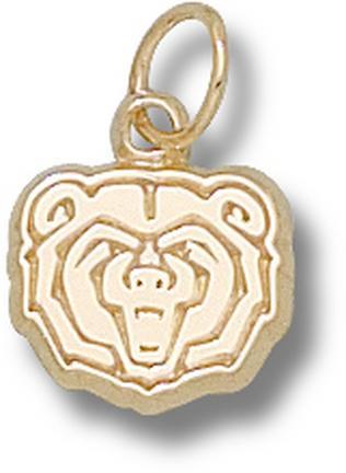 "Missouri State University Bears ""Bear Head"" 3/8"" Charm - 10KT Gold Jewelry"