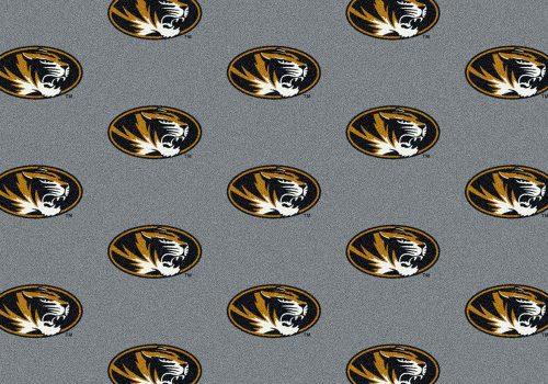 """Missouri Tigers 3' 10"""" x 5' 4"""" Team Repeat Area Rug"""