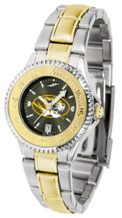 Missouri Tigers Competitor AnoChrome Ladies Watch with Two-Tone Band