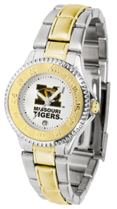 Missouri Tigers Competitor Ladies Watch with Two-Tone Band
