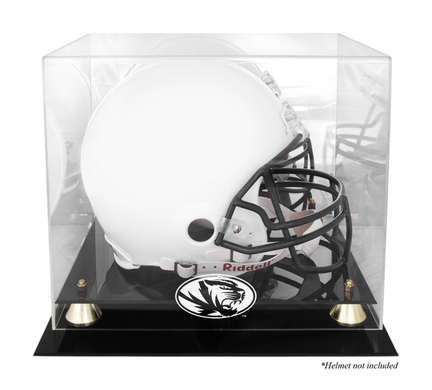 Missouri Tigers Golden Classic Logo Football Helmet Display Case with Mirror Back