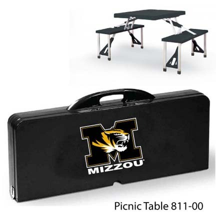 Missouri Tigers Portable Folding Table and Seats