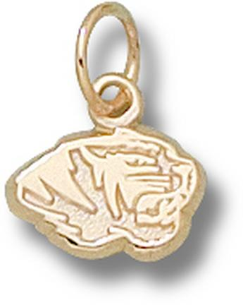 "Missouri Tigers ""Tiger Head"" 1/4"" Charm - 14KT Gold Jewelry"