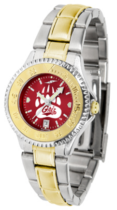 Montana Grizzlies Competitor AnoChrome Ladies Watch with Two-Tone Band