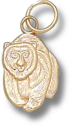 """Montana Grizzlies """"Grizzlie Bear"""" 1/2"""" Charm - 10KT Gold Jewelry"""