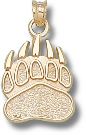 """Montana Grizzlies """"Grizzlie Paw"""" Pendant - 10KT Gold Jewelry"""