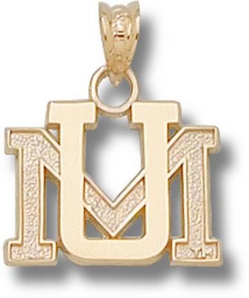 "Montana Grizzlies ""UM"" Pendant - 10KT Gold Jewelry"