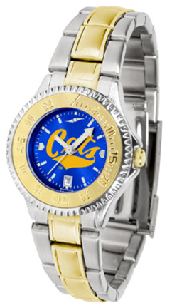 Montana State Bobcats Competitor AnoChrome Ladies Watch with Two-Tone Band