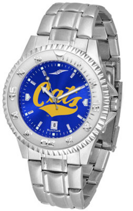 Montana State Bobcats Competitor AnoChrome Men's Watch with Steel Band