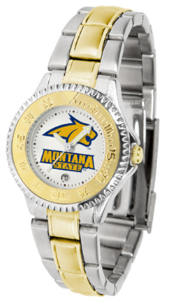 Montana State Bobcats Competitor Ladies Watch with Two-Tone Band