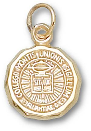 "Mount Union Purple Raiders ""Seal"" 1/2"" Charm - 10KT Gold Jewelry"