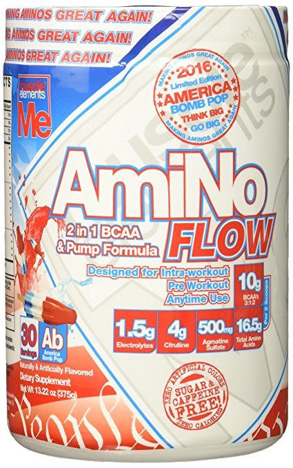 Muscle Elements 9230019 Amino Flow American Pop 30 Serves