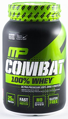 Muscle Pharm 4820209 2 lbs Combat 100 Percent Whey Protein Powder Strawberry