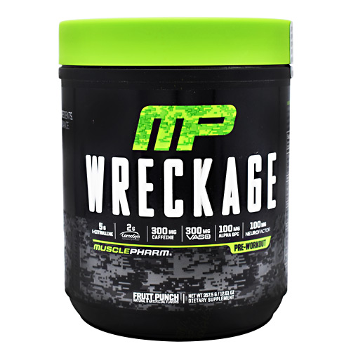 Muscle Pharm 4820224 Wreckage Formula Fruit Punch - 25 Per Serving