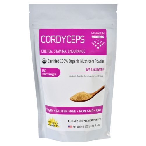 Mushroom Matrix 1551472 3.57 oz Matrix Cordyceps Militaris Organic Powder