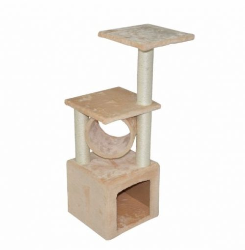 NATI 85400 Deluxe Cat Tree condo Furniture - 12 x 12 x 36 in.