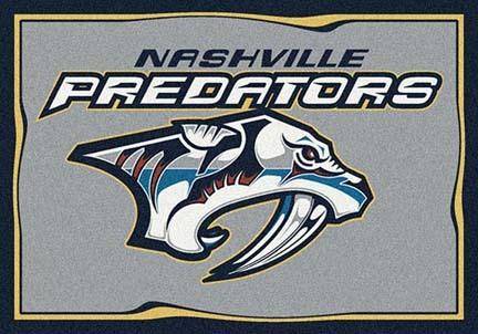 "Nashville Predators 3' 10"" x 5' 4"" Team Spirit Area Rug"