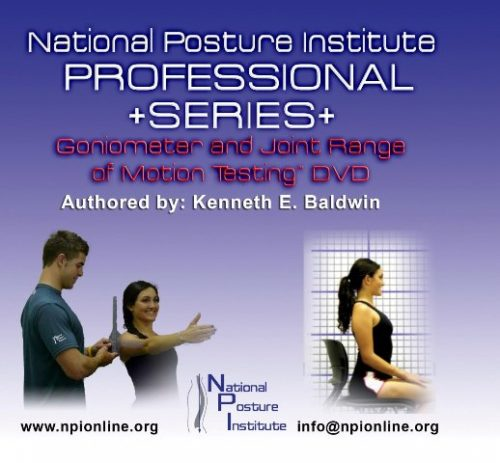 National Posture Institute Goniometer And Joint Range Of Motion Testing DVD - With Bonus Goniometer