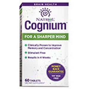 Natrol 231595 60 Tablets Brain Vitality & Anti Aging Cognium