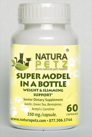 Natura Petz HERB60 Super Model in a Bottle 60 caps - Senior - 60 Capsules - 350 mg per capsule