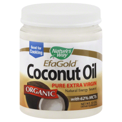 NatureS Way - Efagold Organic Pure Extra Virgin Coconut Oil - 32 Oz.