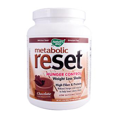Natures Way 0796912 Metabolic ReSet Shake Mix Chocolate - 1.4 lbs