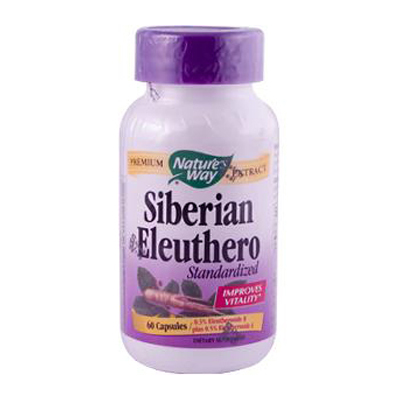 Natures Way Siberian Eleuthero Standardized - 60 Capsules