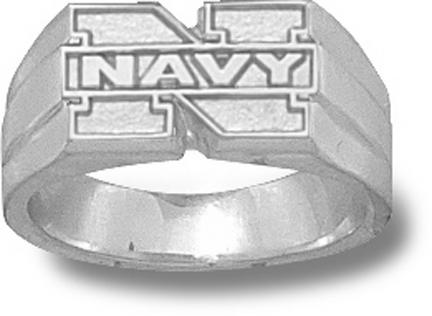 "Navy Midshipmen ""N Navy"" Ladies' Ring Size 7 - Sterling Silver Jewelry"