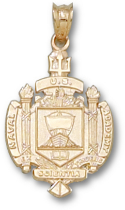 "Navy Midshipmen ""Seal"" Pendant - 10KT Gold Jewelry"