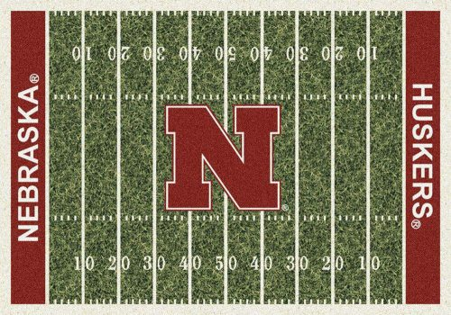 "Nebraska Cornhuskers 3' 10"" x 5' 4"" Home Field Area Rug"