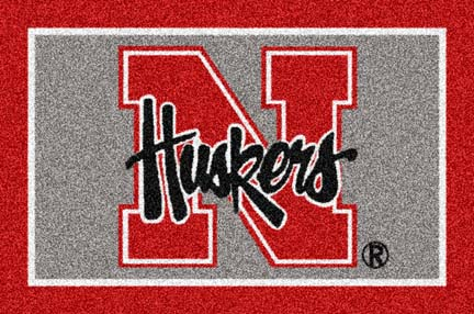 "Nebraska Cornhuskers 33"" x 45"" Team Door Mat"