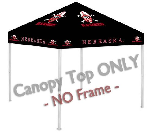Nebraska Cornhuskers Canopy Top for use with the Rivalry 9' x 9' Ultimate Tailgate Canopy Tent Frame (Black)