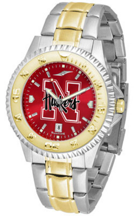 Nebraska Cornhuskers Competitor AnoChrome Two Tone Watch