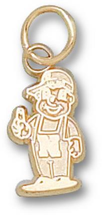 """Nebraska Cornhuskers """"Lil' Red Mascot"""" 7/16"""" Charm - 10KT Gold Jewelry"""