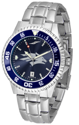 Nevada Wolf Pack Competitor AnoChrome Men's Watch with Steel Band and Colored Bezel