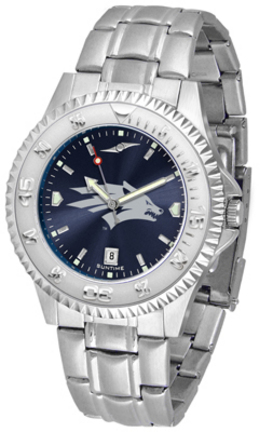 Nevada Wolf Pack Competitor AnoChrome Men's Watch with Steel Band