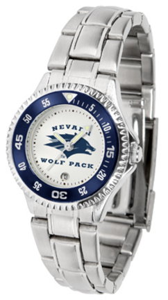 Nevada Wolf Pack Competitor Ladies Watch with Steel Band