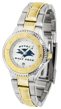 Nevada Wolf Pack Competitor Ladies Watch with Two-Tone Band