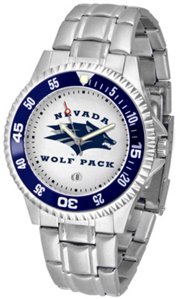 Nevada Wolf Pack Competitor Watch with a Metal Band