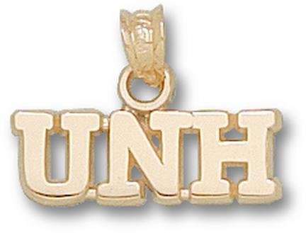 "New Hampshire Wildcats ""UNH"" 1/4"" Pendant - 10KT Gold Jewelry"