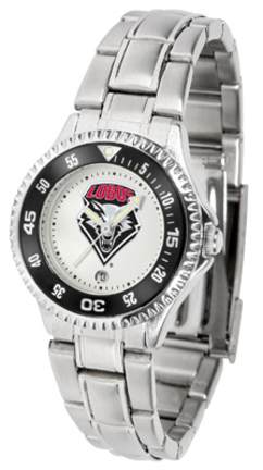 New Mexico Lobos Competitor Ladies Watch with Steel Band