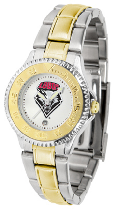 New Mexico Lobos Competitor Ladies Watch with Two-Tone Band