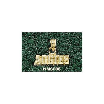 """New Mexico State Aggies """"Aggies"""" Pendant - 10KT Gold Jewelry"""